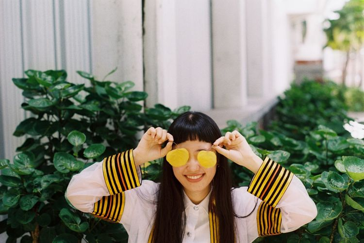 Film Adult Close-up Day Film Photography Filmcamera Food Freshness Front View Fruit Healthy Eating Leaf Looking At Camera One Person One Woman Only Outdoors People Portrait Real People Smile Young Adult Young Women Fresh On Market 2017