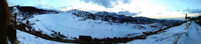 It was a good time.. Snowboarding♡ Life Sky And Mountains Relaxing