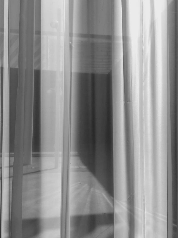 Curtain Shade Window Indoors  Interior Black And White Black & White IPhoneography Pattern, Texture, Shape And Form Beauty In Ordinary Things Morning Night Simplicity Light And Shadow Shade