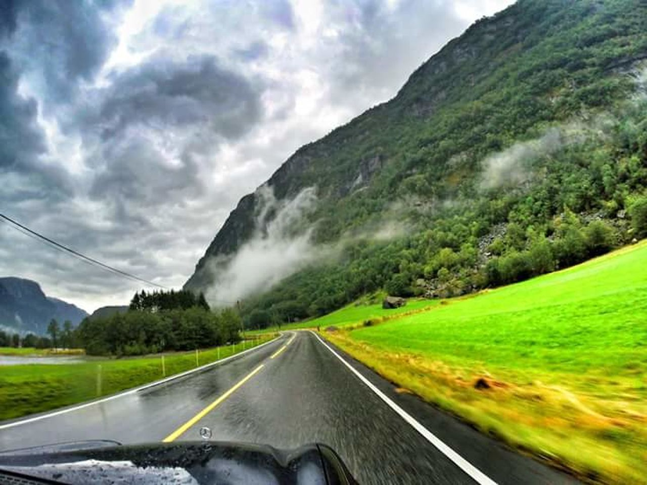 Hardanger Hardangerfjorden Hardangervidda Hardangervegen Odda Norway Norge Landscape Road Outdoors NorwayTourism Goprophotography Aroundtheworld Travel Photography Eyemphotography Goprotravel Travel Destinations Follow4follow Beauty In Nature Green Color Scenics Fjordsofnorway Roadsidephotography Roadscenes Norwaynature