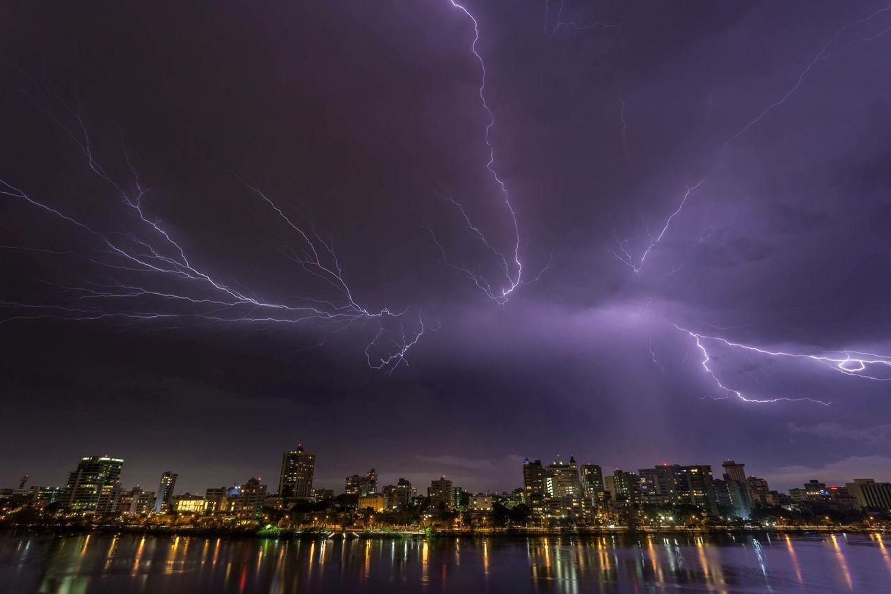 Beautiful stock photos of lightning, Architecture, Building Exterior, Built Structure, City
