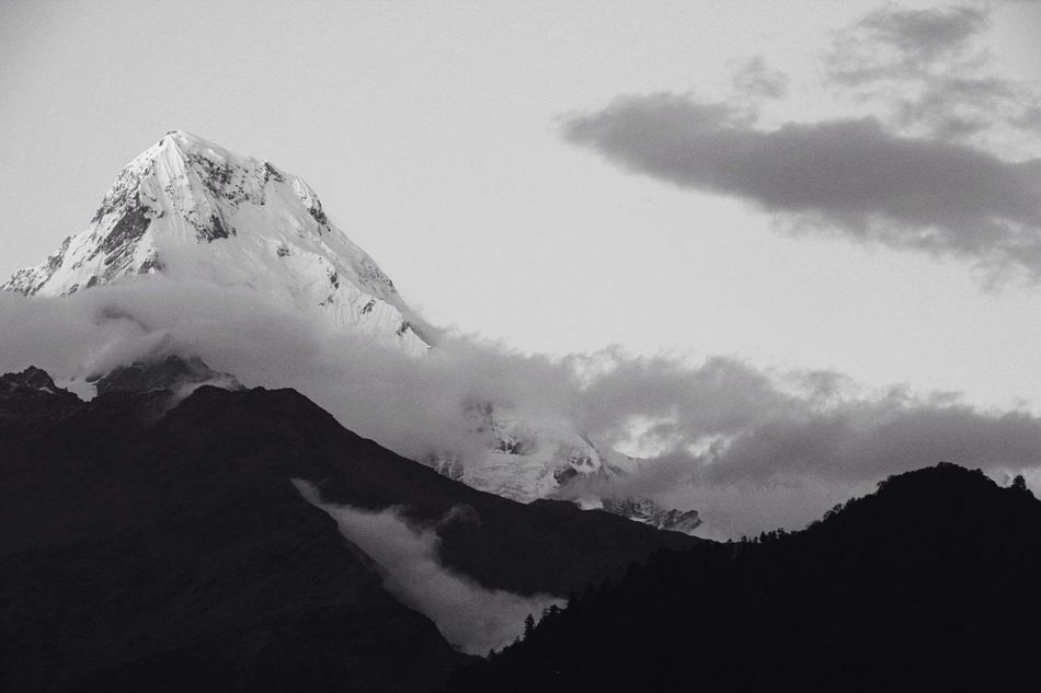 Beautiful stock photos of annapurna, Beauty In Nature, Cloud - Sky, Cold Temperature, Covered