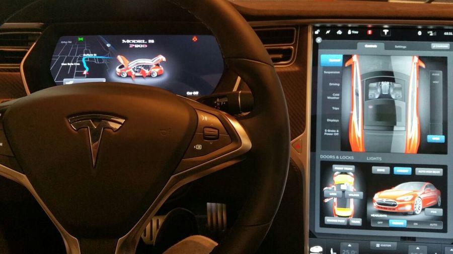Inside the Tesla Car