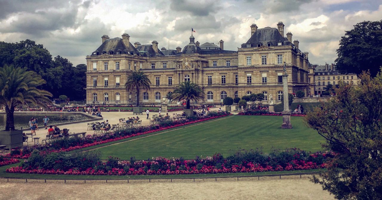 Architecture Building Exterior Built Structure Cloud - Sky Day Flower Fragility France Garden IPhoneography Jardin Du Luxembourg Luxembourg Garden Nature Outdoors Sky Travel Destinations Tree