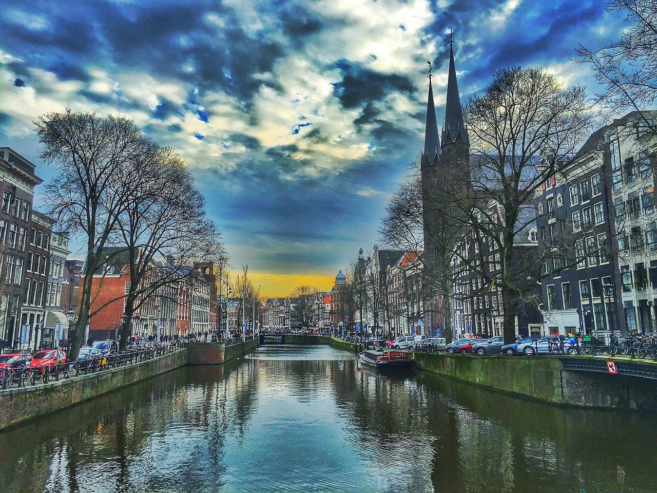 Amsterdam Amsterdamcity Architecture Beautiful Building Exterior Canal Church City City Citylife Cloud Cloud - Sky Cloudy Gracht Holland Iamamsterdam Netherlands Niederlande Reflection River Sky Water Waterfront