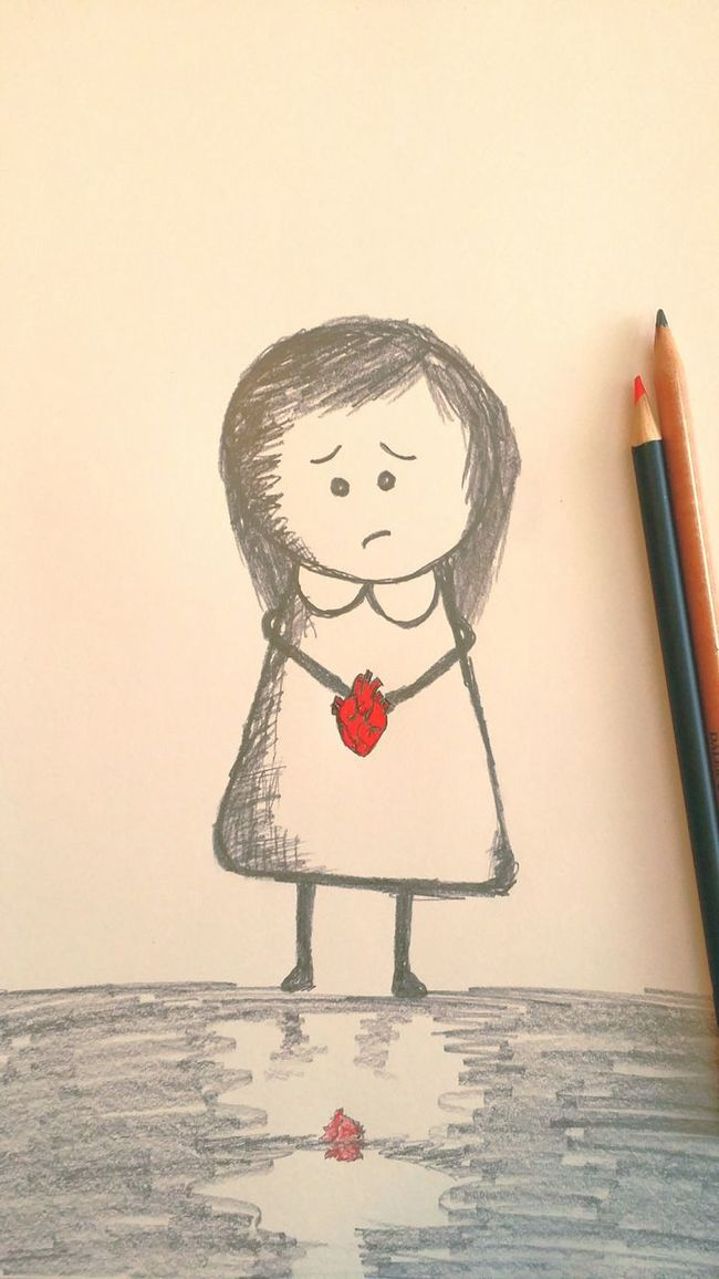 Oh no, its hurting again...... (brokenhearted by me) Sketch Tadaa Community Androidography EyeEm