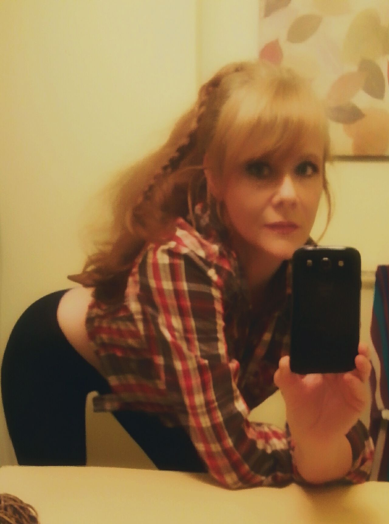 That's Me Hi! Flannel Shirt Ginger Redhead Longhair Sexyme Selfietime Mirrorselfie Checking In Strawberryblond Sexywoman