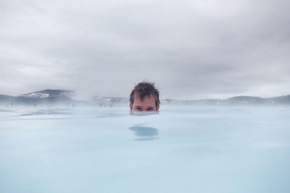 Beautiful stock photos of swimming,  40-44 Years,  Beach,  Boys,  Brown Hair
