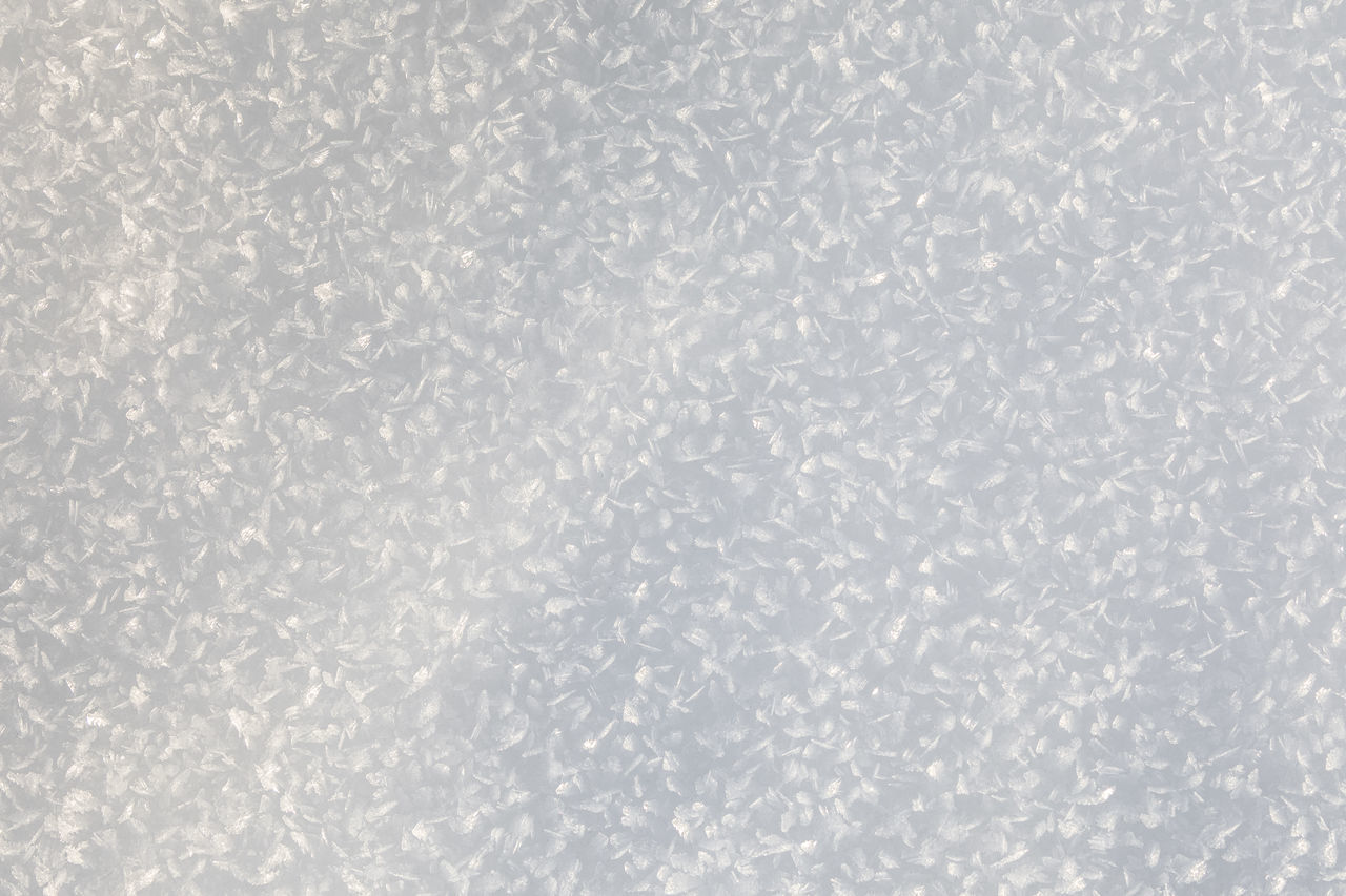 Directly above shot of ice crystals on snow Abstract Backgrounds Beauty In Nature Close-up Cold Temperature Day Directly Above Frost Frozen Full Frame Ice Ice Crystal Natural Pattern Natural Phenomenon Nature No People Pattern Purity Shiny Simplicity Snow Sunny Textured  White Color Winter