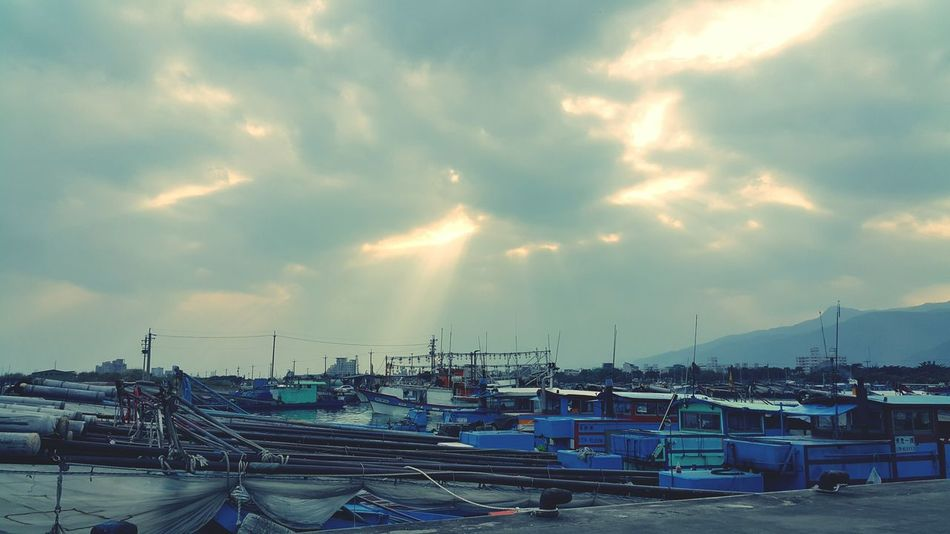 Light of hope. The Moment - 2015 EyeEm Awards Harbour Sunlight Clouds And Sky Light Beauty Taiwan Hello World
