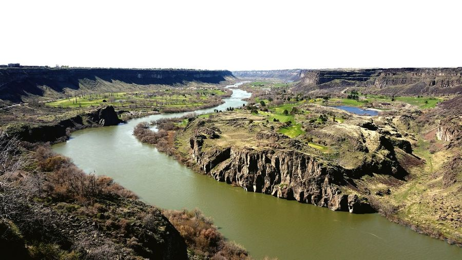 Snake River River View Beauty In Nature Landscape Scenics Golf Course In The Desert Rock Formations Geology