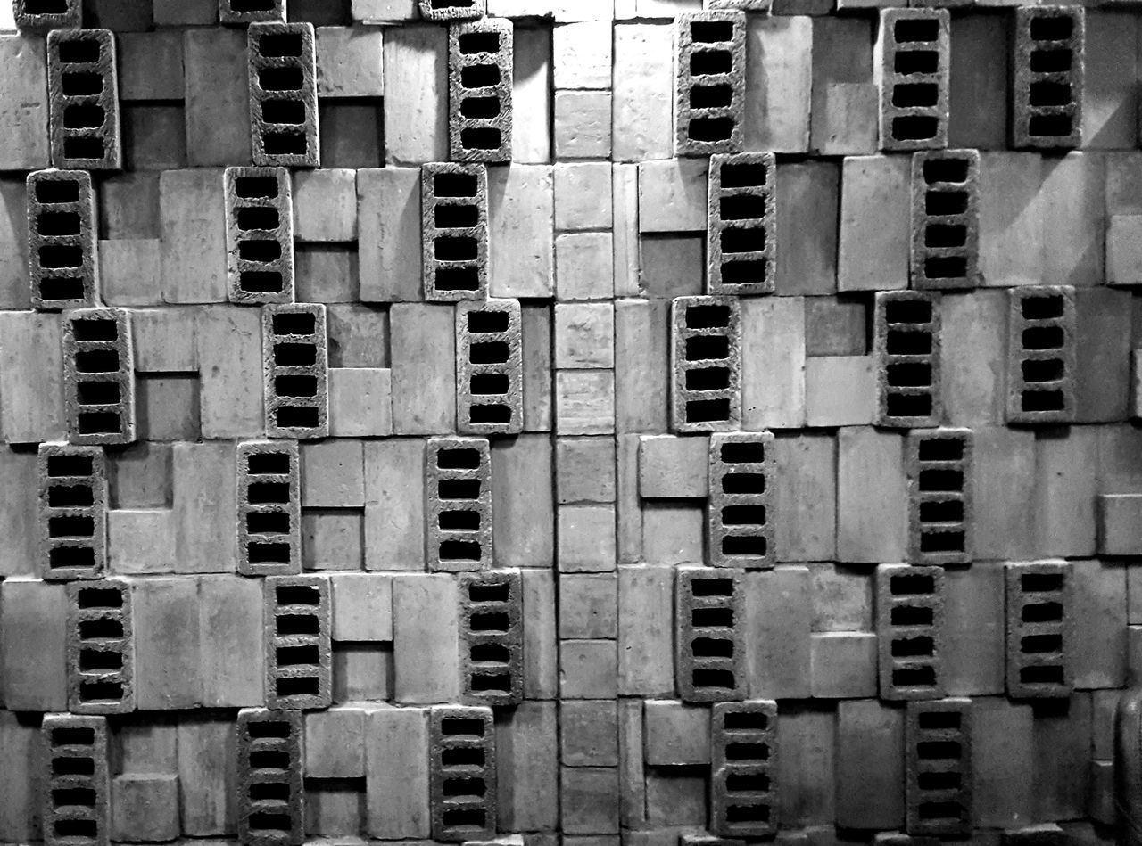 Black And White Photography Black & White Pattern Textures And Surfaces Textures Bricks Wall Pattern Blocks Block Wall Brick Wall Wall Design