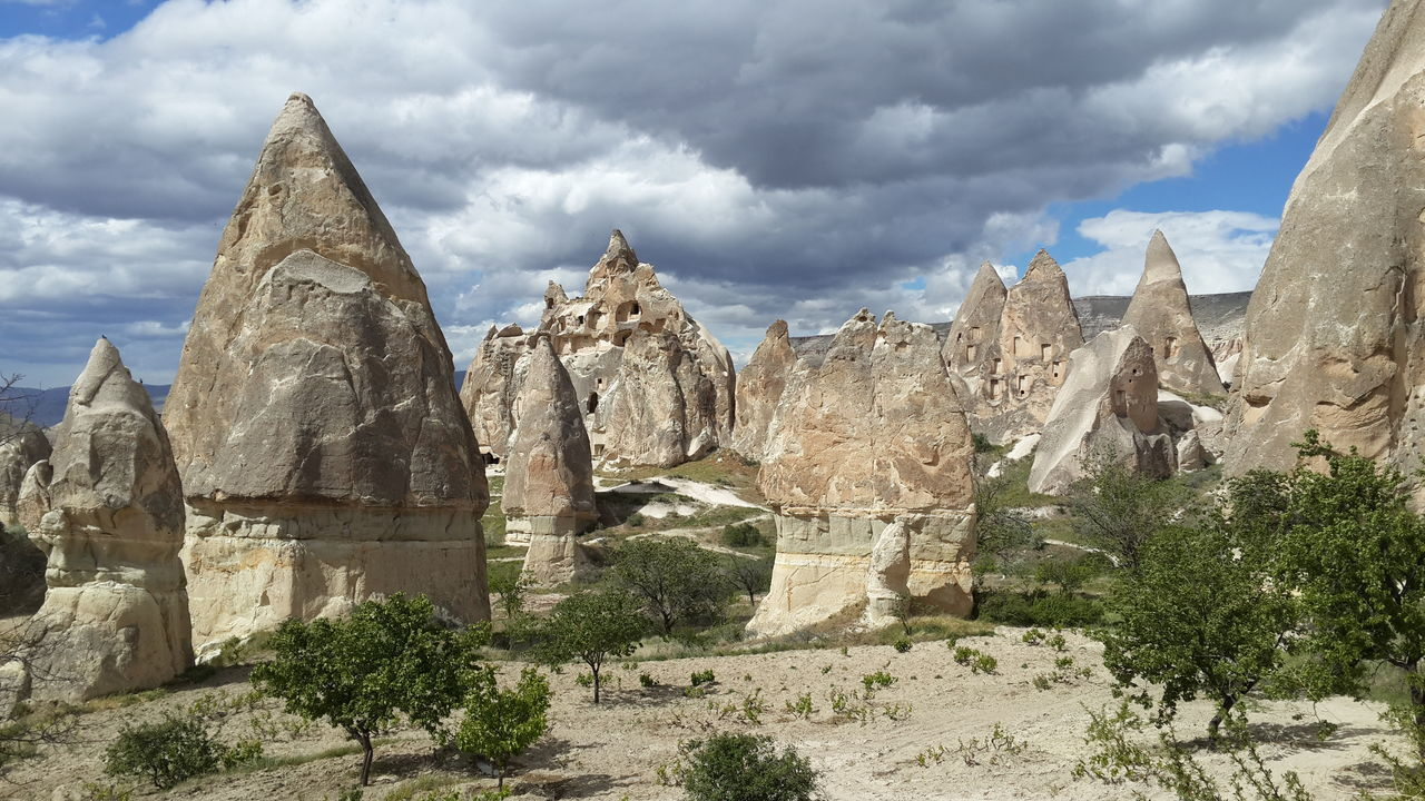 Beauty In Nature Cappadocia Cloud Cloud - Sky Cloudy Day Geology Hike Landscape Mountain Nature No People Non-urban Scene Outdoors Physical Geography Rock - Object Rock Formation Scenics Sky Tourism Trail Travel Destinations Tuff Turkey