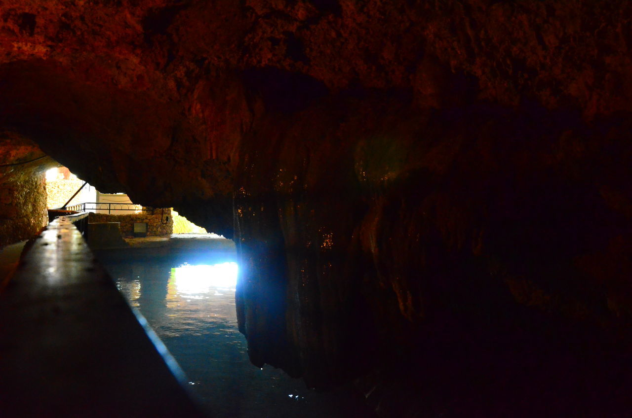 cave, rock formation, indoors, built structure, nature, water, no people, architecture, day, illuminated, beauty in nature