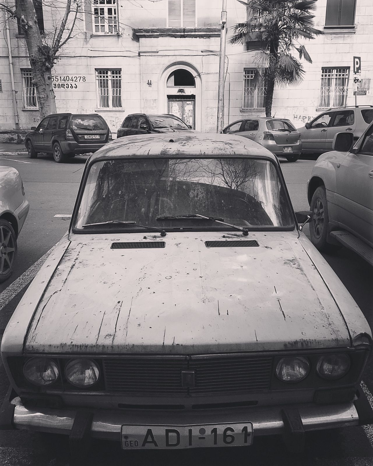 Blackandwhite Photography Old Car Transportation Mode Of Transport Land Vehicle City Day No People Outdoors Tbilisi