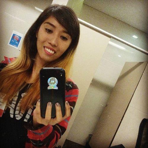 Hello again to my medyo short hair :) Mirrorshot Restroomshot Worththewait