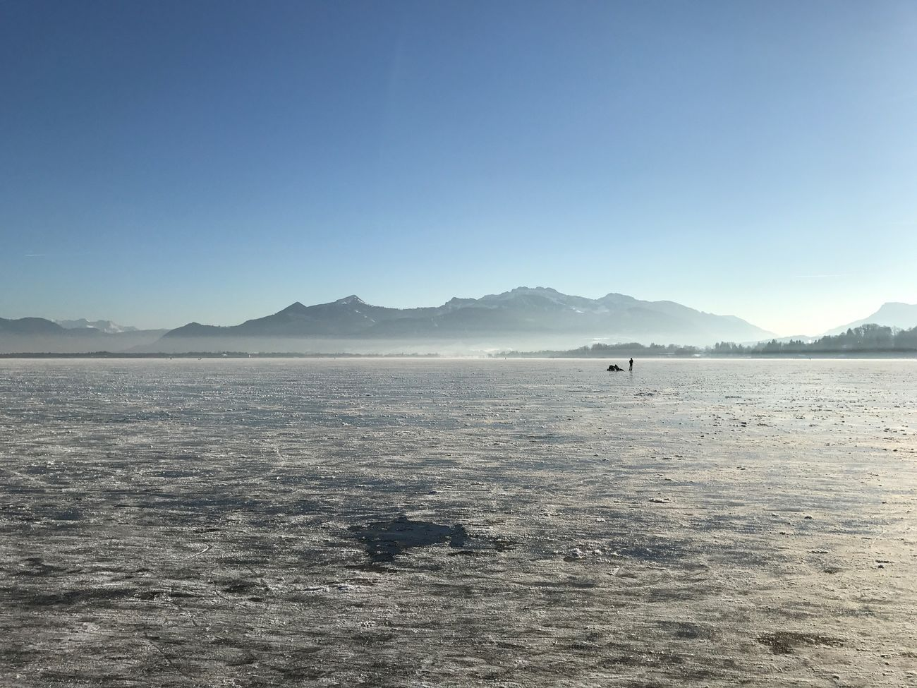 Mountain Outdoors Nature Beauty In Nature Scenics Landscape Day Clear Sky Water No People Sky Frozen lake