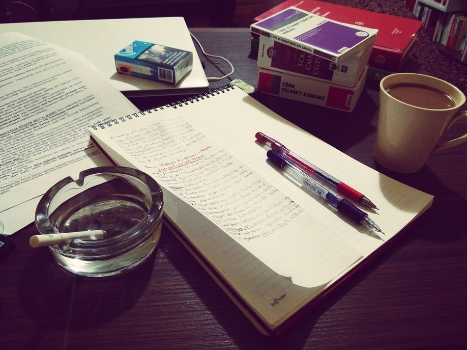 Vizeler başlıyor... Exams First Exams Coffee ☕ Coffee And Cigarettes Cigarette  Chesterfield Coffee Break Night Law Faculty Of Law