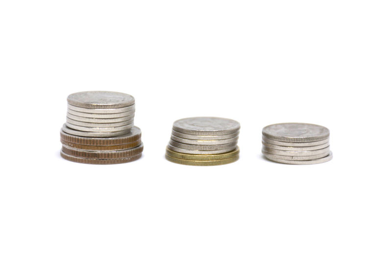 Isolated Isolated Beach Close-up Coin Copy Space Currency Day Finance Isolated Color Isolated On White Isolated Photograph Isolated White Background Large Group Of Objects Metal Monkey No People Nut - Fastener Savings Ship Stack Studio Shot Wealth White Background