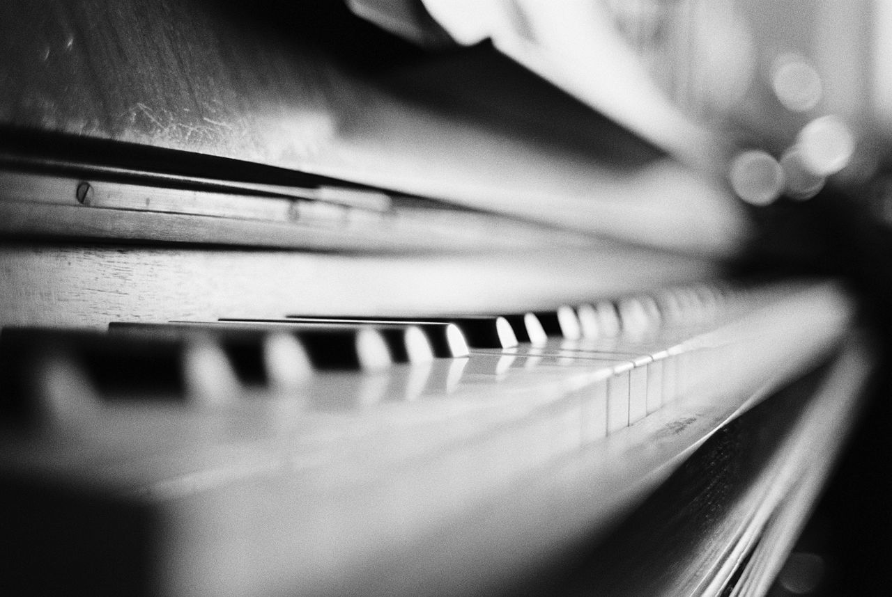 Musical Instrument Music Piano Piano Key Close-up Indoors  Arts Culture And Entertainment Musical Equipment No People Musical Instrument String Day Analogue Photography Film Photography Filmisnotdead 35mm Blackandwhite