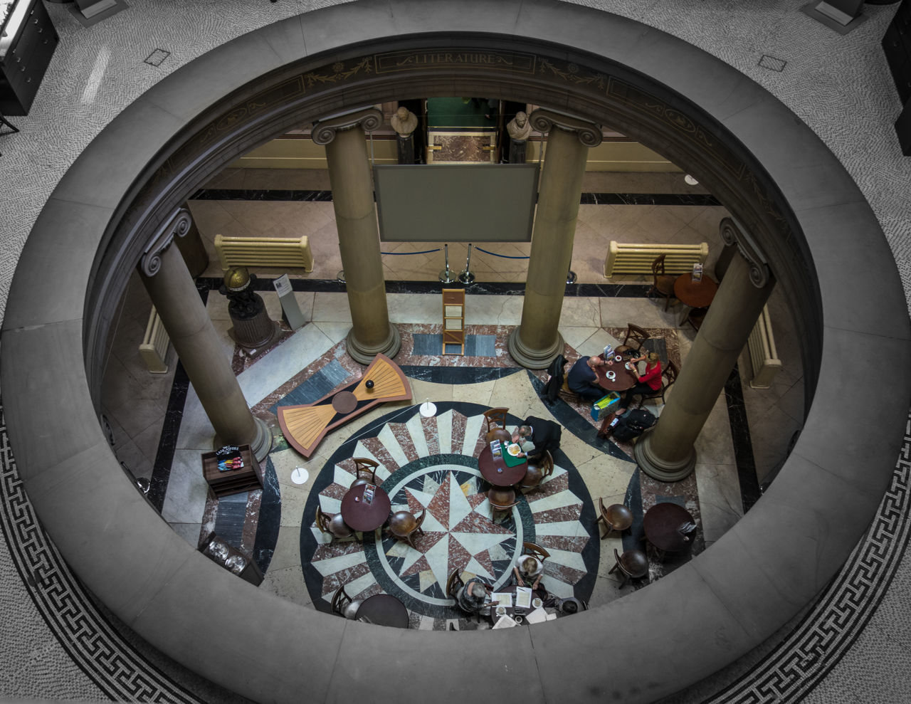 Hole in the Floor, Harris Museum, Arch Architectural Feature Circle Day Design Geometric Shape Harris Museum No People Ornate Preston