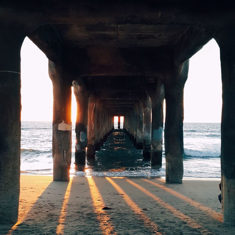 Beautiful stock photos of california, Architectural Column, Beach, Below, Built Structure