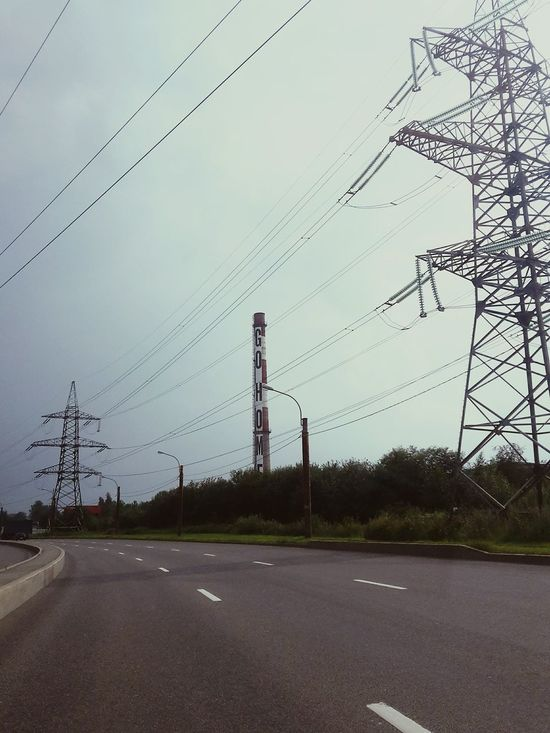 Summer City Urban Road The WritingRussia Go Home Saint-Petersburg Still Life The Pipe Electrical Towers