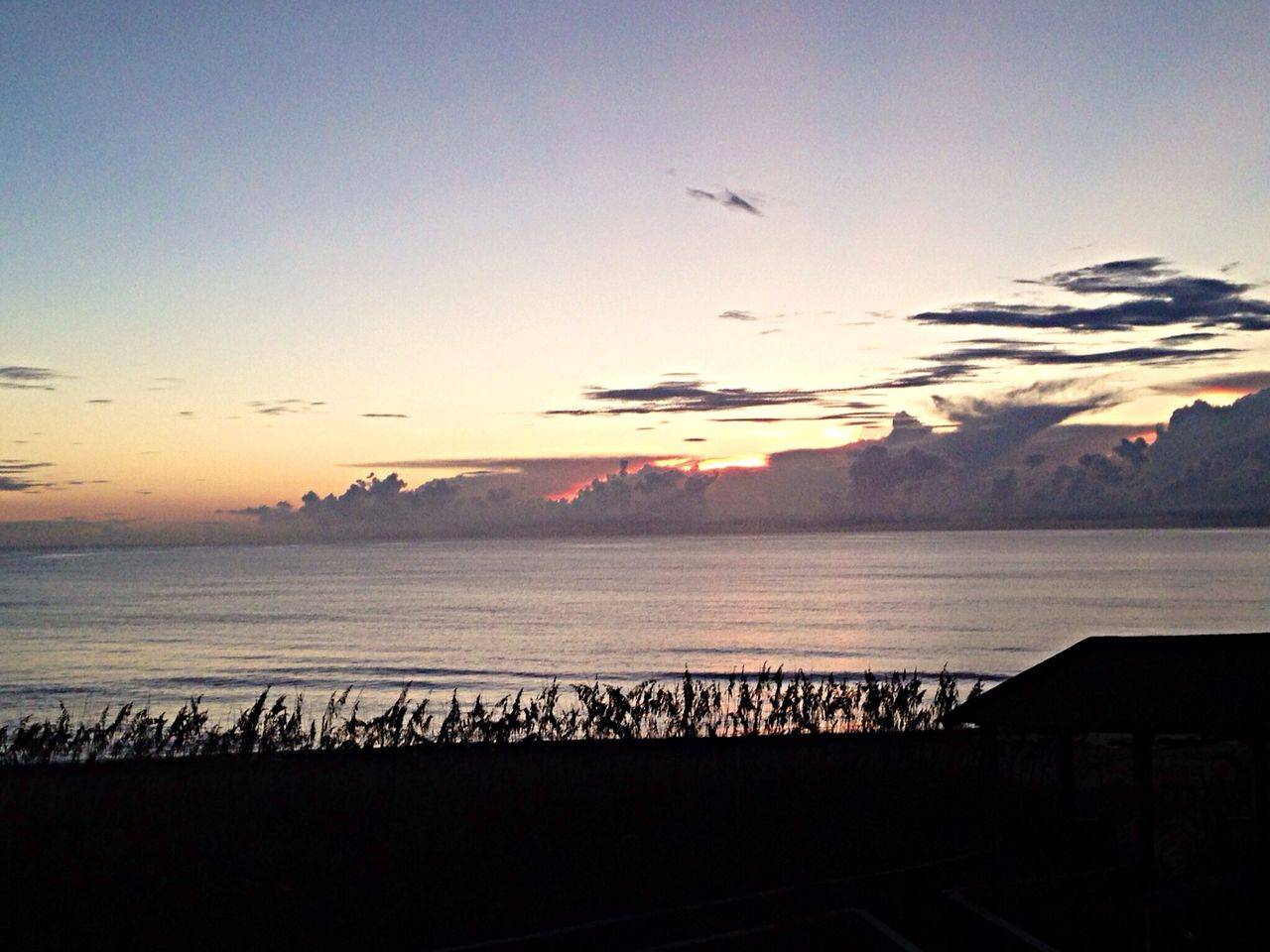 My last morning on the Outer Banks. :( OBX14 Sunrise Water Clouds