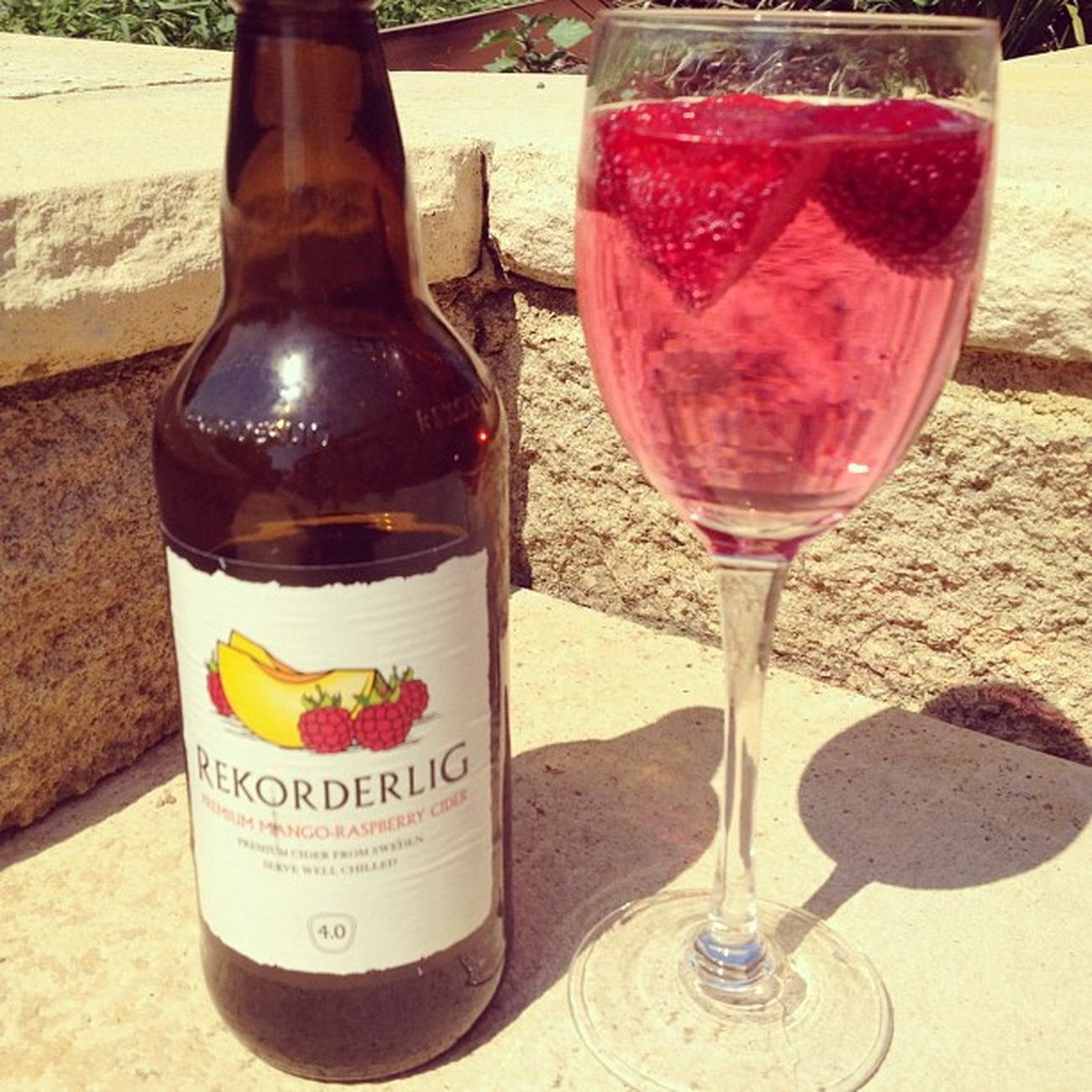 It's a hard life ? Rekorderlig Cider Strawberries Sun lovinglife tan cantwaitforsummer