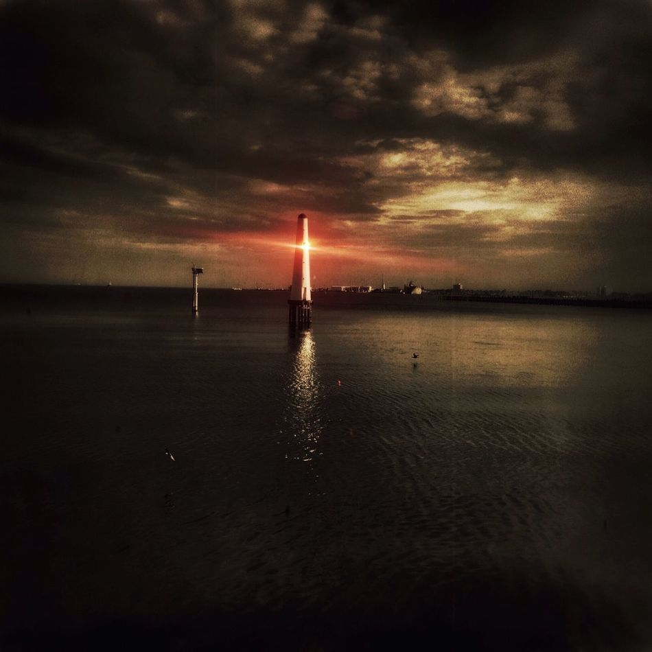 Lighthouse Lighthouse_lovers Melancholic Landscapes Red Mobilephotography Melbourne PortMelbourne Beach Landscapes NEM Submissions
