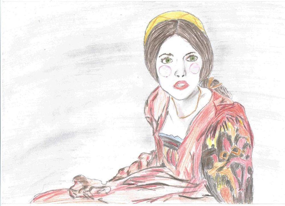 Drawing Woman Romeo And Juliet Juliette Juliette