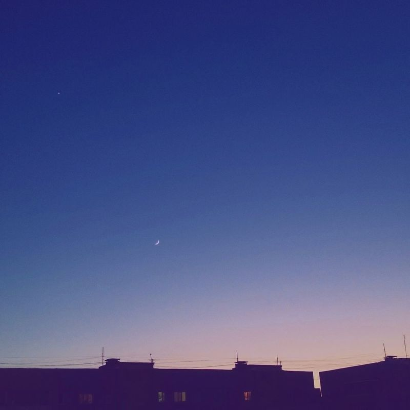 City of stars Sky Blue Moon Night Clear Sky Cityofstars
