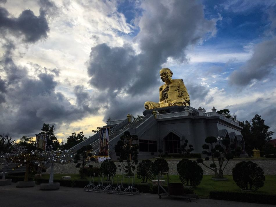 Temple Sky Cloud - Sky Outdoors Built Structure Architecture Nature Temple Temple - Building Temple In Thailand Thai