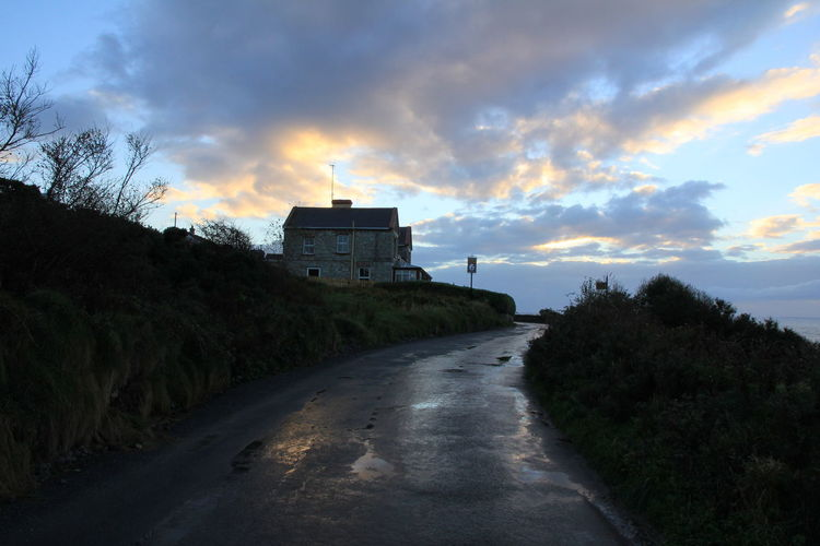Donegal Ireland Ireland🍀 Architecture Beauty In Nature Building Exterior Built Structure Cloud - Sky Day House Nature No People Outdoors Road Sky Sunset The Way Forward Tree