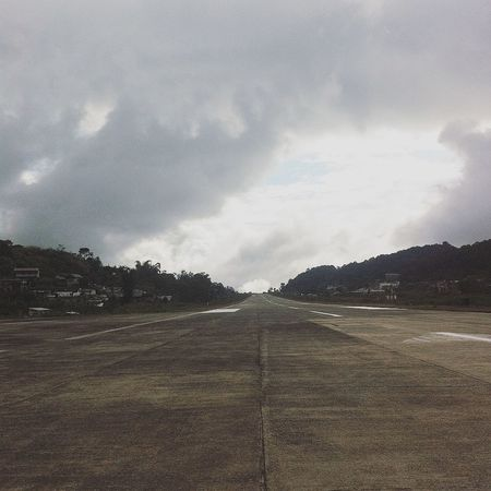 Beauty In Nature Cloud - Sky Cloudy Day Landscape No People Non-urban Scene On The Way Outdoors Run Away Runway Scenics Sky The Way Forward Tranquility Weather