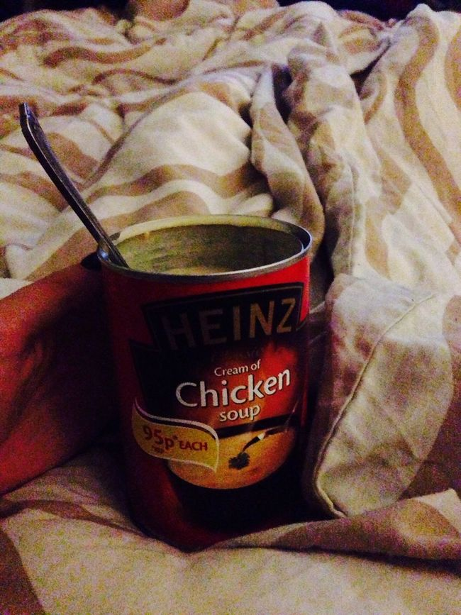 chicken soup in bed Foodporn