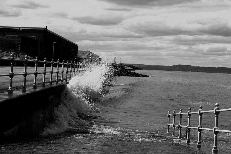 Scotland Scottish Portabello Edinburgh Coastal Waves Waves, Ocean, Nature Waves Crashing Blackandwhite Blackandwhite Photography