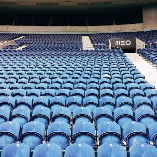 1.0 Soccer Game Stadium Stadium Seating Minimalism Minimal Blue First Eyeem Photo