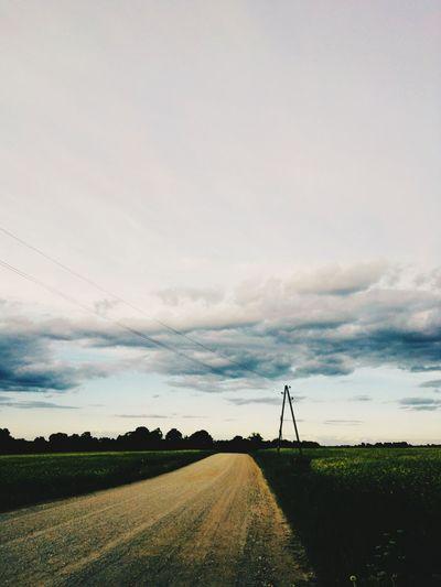 Technology Cloud - Sky Sky Field Rural Scene Landscape Tranquility