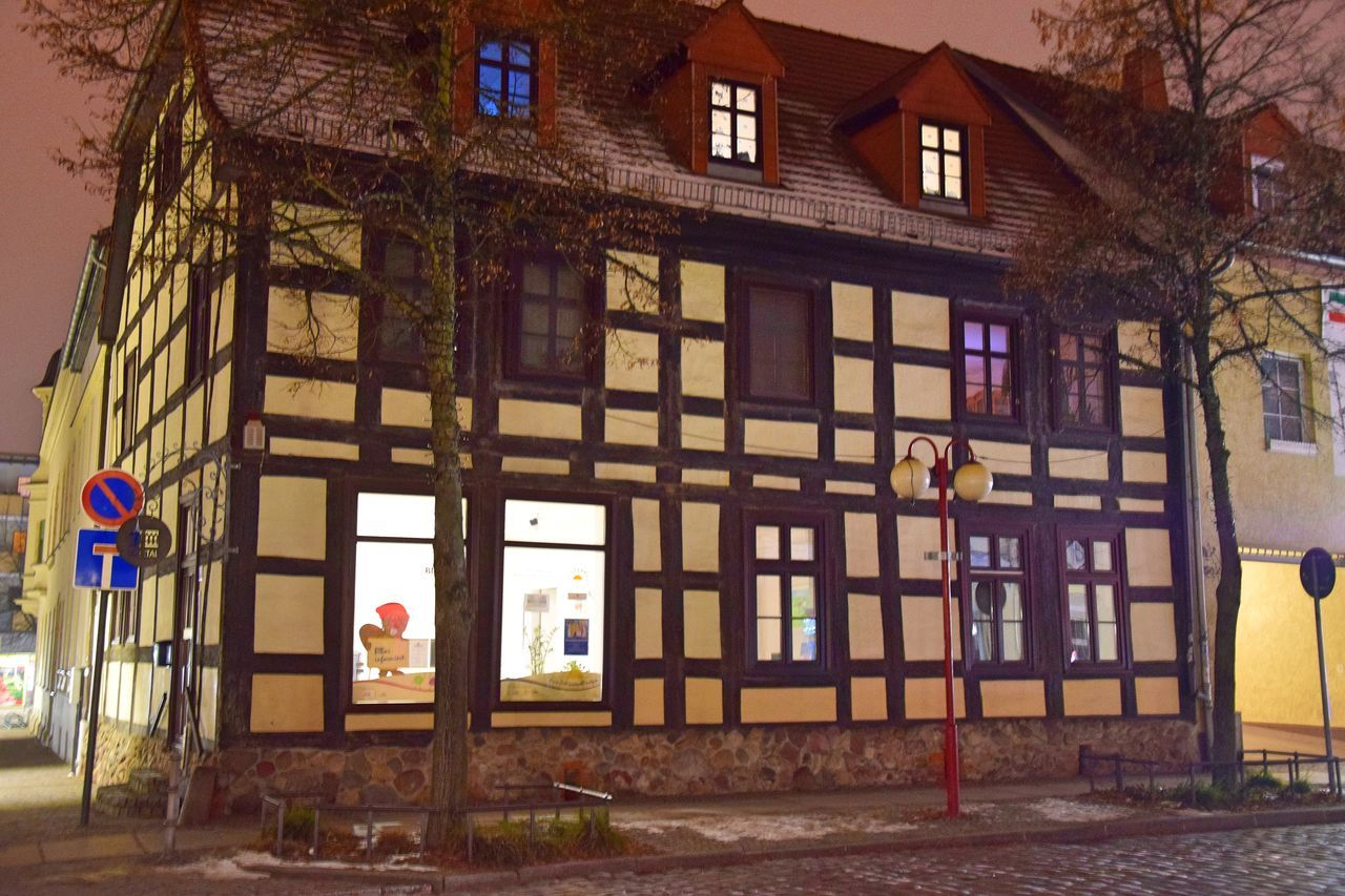 Full Length Half-timbered House Half-timbering Historic Historical Building Night Nightphotography Old Old Buildings Outdoors Winter