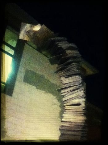The library at night. Wandering around is the best <3