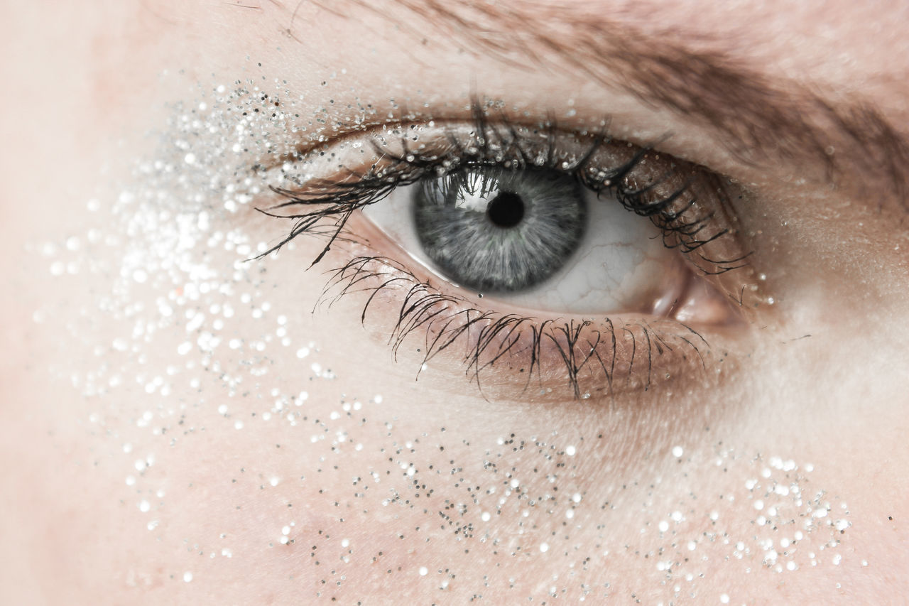 Glitter Macro Beauty Macro Photography Shine backgrounds blue Blue eyes close-up color eyeball eyelash eyesight human eye indoors iris - eye look Looking At Camera macro macro_collection one person people photography photooftheday portrait silver