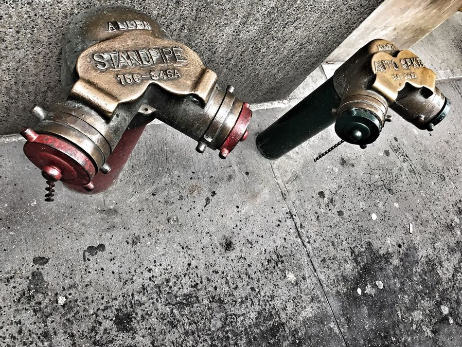 New York Standpipe - Fire Hydrant Metal Metal Pipe City Manhattan New York City Infrastructure