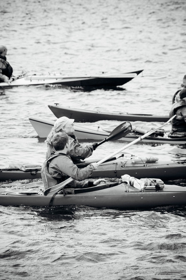 Blackandwhite Canoeing Canoes Day Leisure Activity Rippled Side View Water Waterfront Watersport Watersports