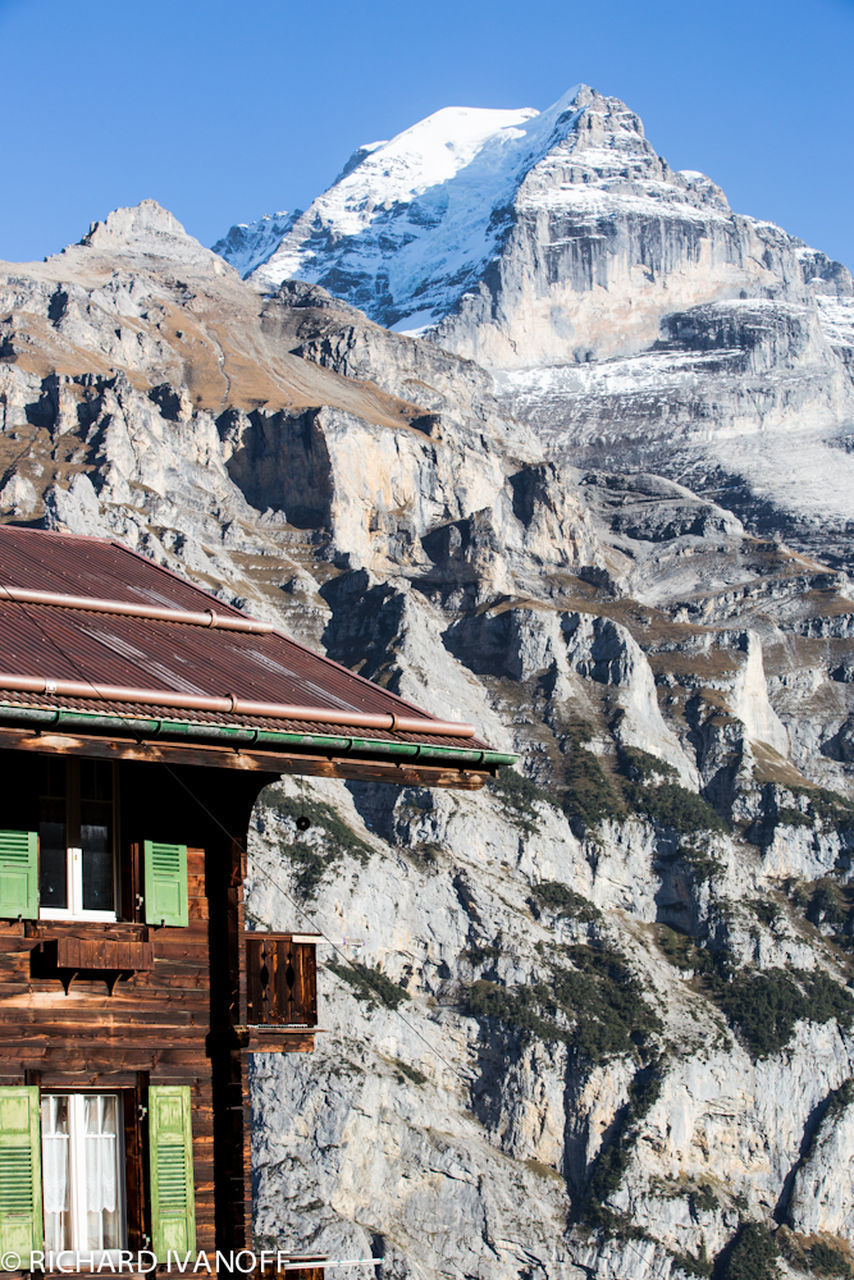 mountain, snow, winter, mountain range, architecture, outdoors, cold temperature, nature, no people, day, sky, range