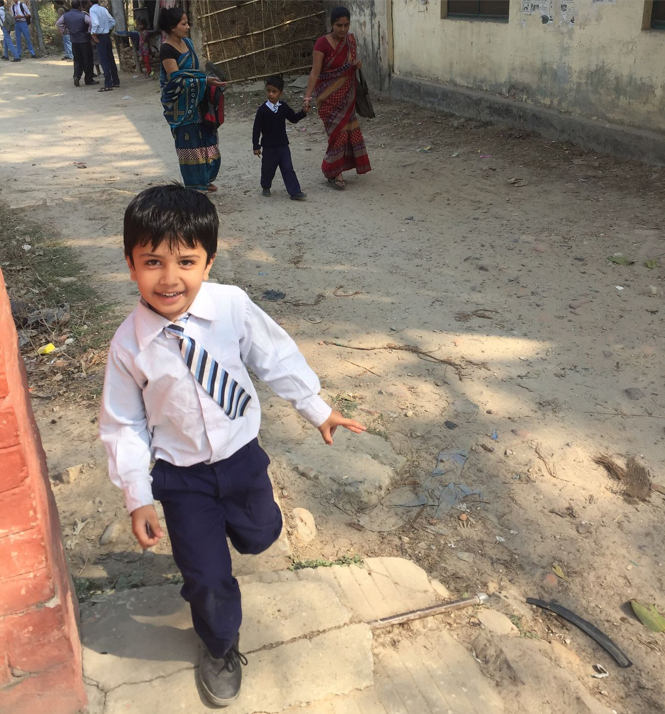 My Son Harshit Happy afrter School Time ;) School Uniforms Around The World