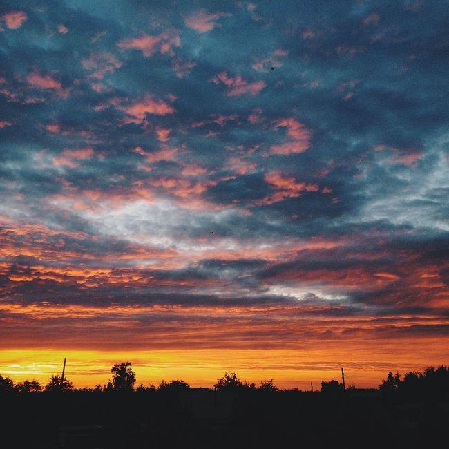 Orël Закат небо Heaven Nature Sunset Bestnature