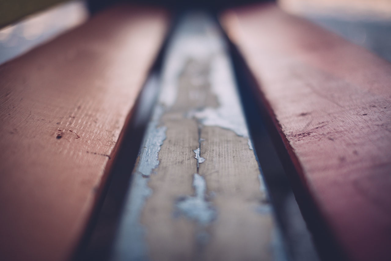 Bench Close-up Day Down Low Low Angle View Low Point No People Selective Focus Wood Wood - Material Wooden Bench