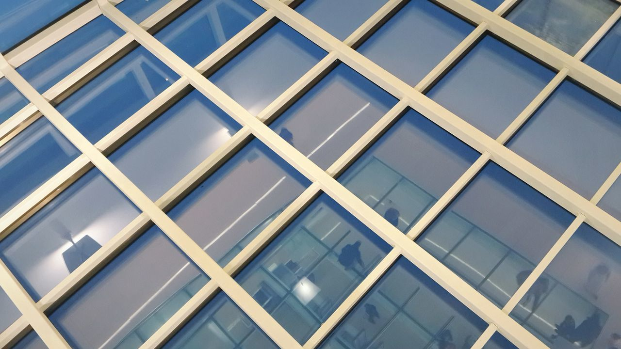 Building Exterior Full Frame Built Structure Architecture Window Pattern Repetition Modern Backgrounds Outdoors Sky Glass - Material Geometric Shapes Background Clear Reflection Reflective Surface Glass Skyscraper City Pattern Pieces Transparent Geometry Simplicity Design