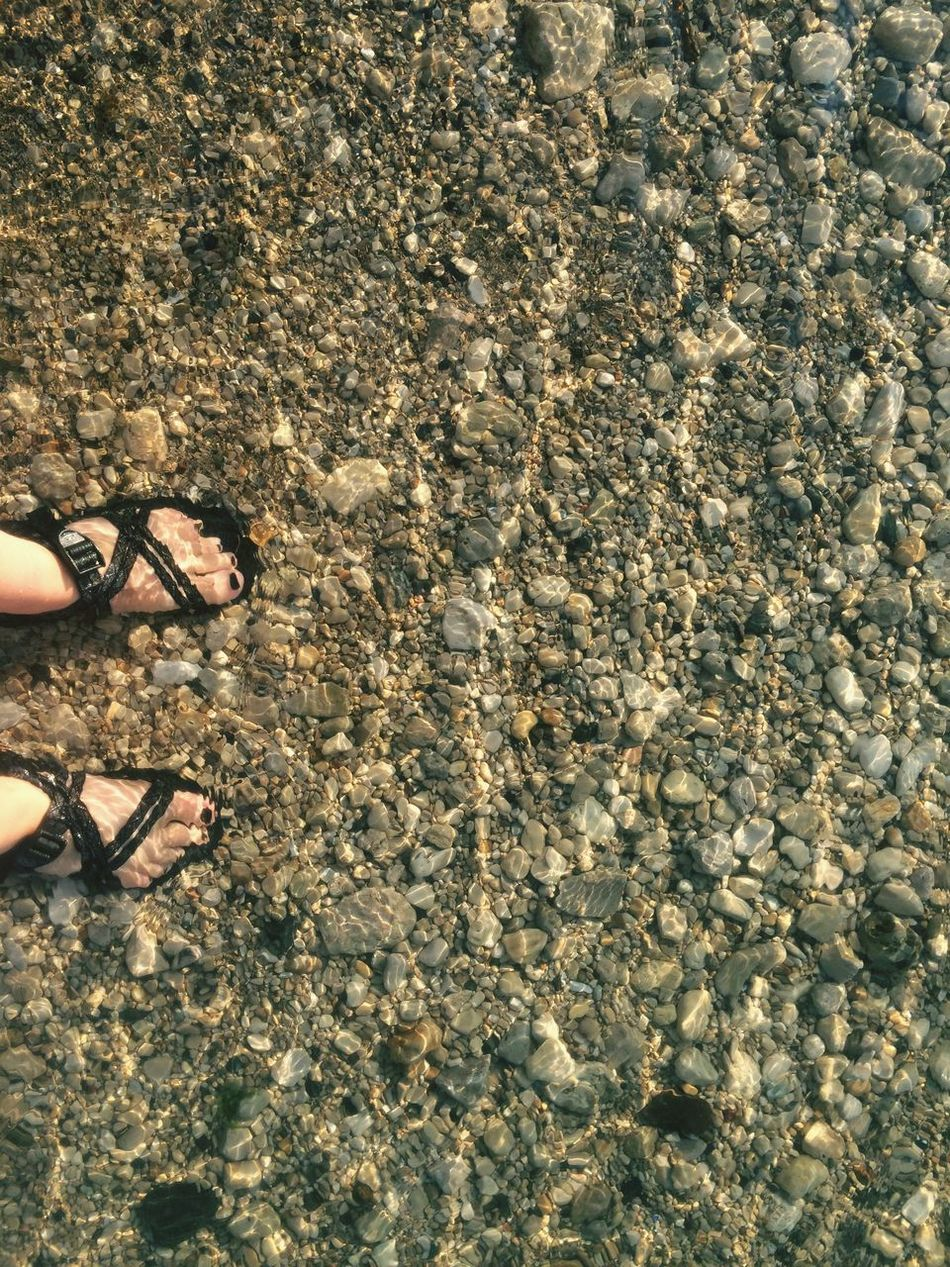 Chacos Lake Huron Feet Rocks Freezing Cold Water Northern Michigan U.P